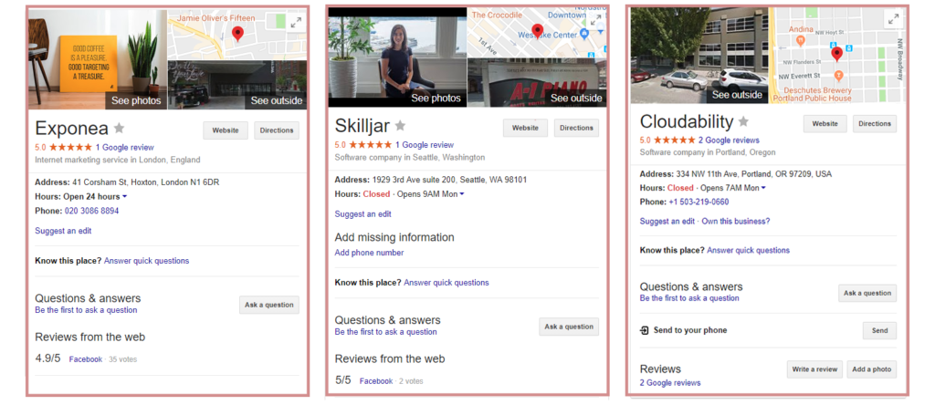 Google Plus Knowledge Panels