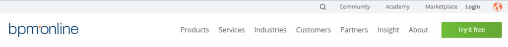 BMP Online navigation menu CTA button color