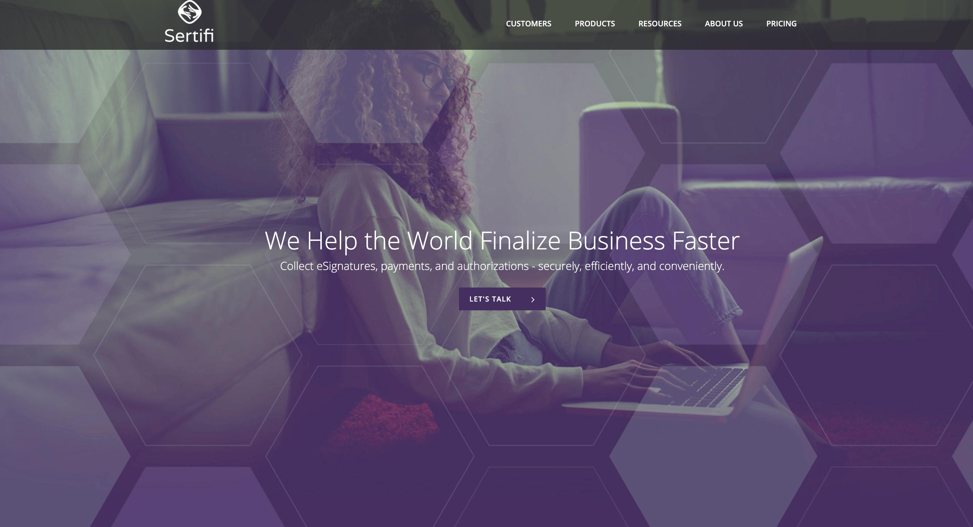 sertifi-homepage