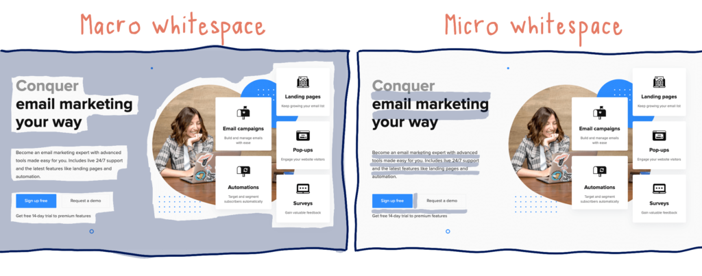 micro macro whitespace examples