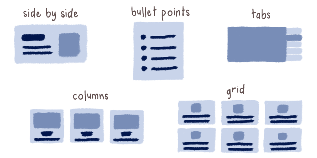 main content layouts